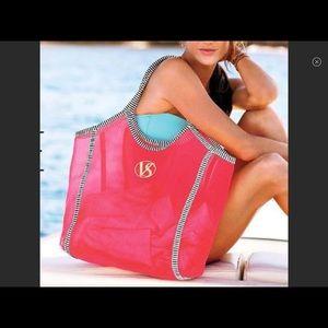 NEW Pink black and white Victoria's Secret tote